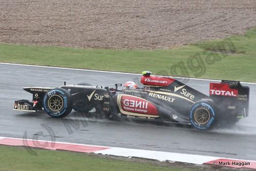 Romain Grosjean in Free Practice 1 for the 2013 British Grand Prix
