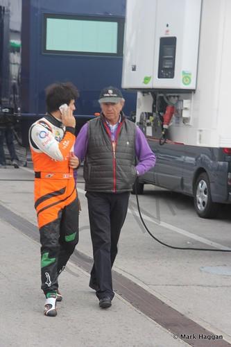 Sergio Perez at Formula One Winter Testing 2014