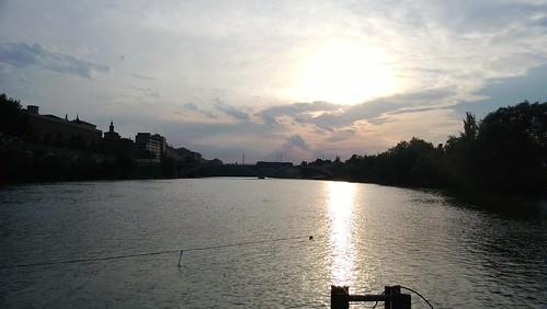 Pontón sobre el Ebro