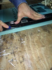 """Cutting the rabbet edge on the insulation <a style=""""margin-left:10px; font-size:0.8em;"""" href=""""http://www.flickr.com/photos/91024182@N04/16364279098/"""" target=""""_blank"""">@flickr</a>"""