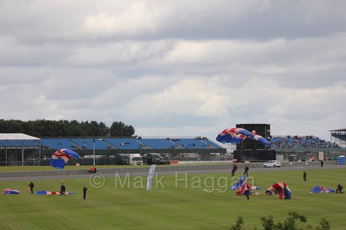 The RAF Falcons Display Team at the 2016 British Grand Prix