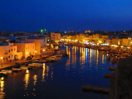 Old port by night, Bizerte