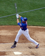 Ike Davis flails at a pitch