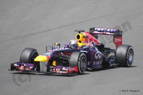 Sebastian Vettel in the 2013 British Grand Prix