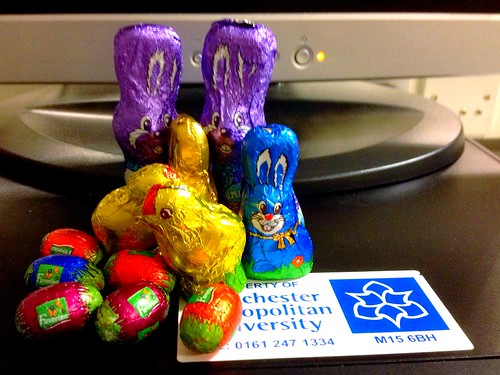 Today is all about...winning the Easter Egg hunt