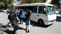 Bus and cameras