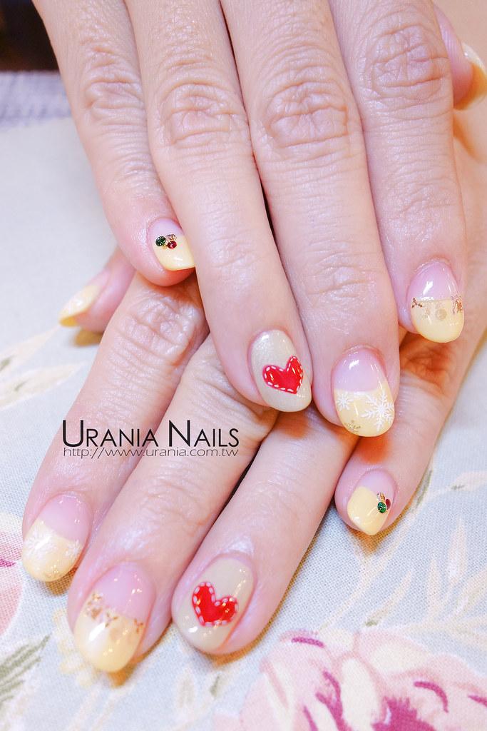 冬季法式凝膠指甲
