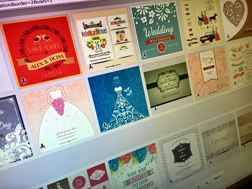 Today is all about...wedding invite researching