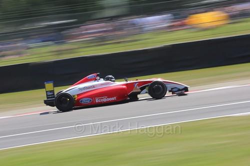 Nicolai Kjærgaard in British Formula Four during the BTCC weekend at Oulton Park, June 2016