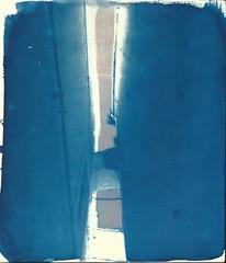 Cisternino, cianotipia e pastello, 2016