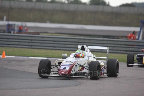 Sennan Fielding in British F4 at Rockingham, August 2016