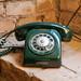Rotary phone dial nostalgia