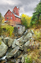 """Grist Mill in the Rain • <a style=""""font-size:0.8em;"""" href=""""http://www.flickr.com/photos/19514857@N00/15592213080/"""" target=""""_blank"""">View on Flickr</a>"""