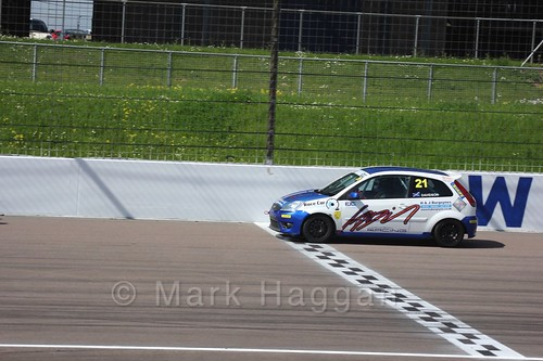 Fiesta Junior Racing during the BRSCC Weekend at Rockingham, May 2016