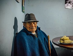 """Go ahead, take a picture of an old man and his plate of corn."" #theworldwalk #travel #ecuador"