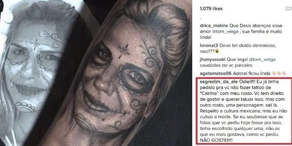 """Tatuador diz que mulher de Louro José não entendeu homenagem: """"Indelicada"""""""