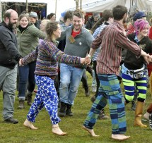 Scottish Women Dancing Barefoot