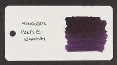 Noodler's Purple Wampum - Word Card