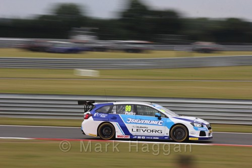 Jason Plato in Touring Car action during the BTCC 2016 Weekend at Snetterton