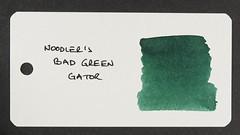 Noodler's Bad Green Gator - Word Card