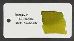 Rohrer & Klingner Alt-Goldgrun - Word Card