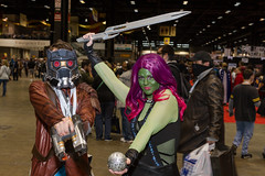"""Star Lord and Gamora #cosplay #C2E2 2015 • <a style=""""font-size:0.8em;"""" href=""""http://www.flickr.com/photos/33121778@N02/17097274489/"""" target=""""_blank"""">View on Flickr</a>"""