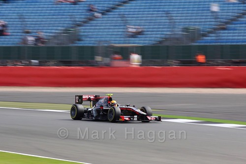 Arthur Pic in his Rapax in GP2 qualifying at the 2016 British Grand Prix