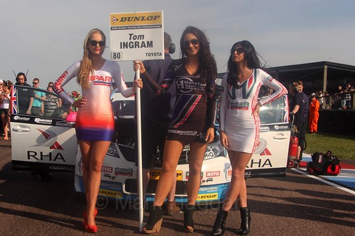 Tom Ingram's grid board during the BTCC Weekend at Thruxton, May 2016