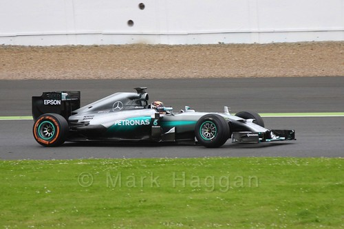 Pascal Wehrlein in the Mercedes in Formula One In Season Testing at Silverstone, July 2016