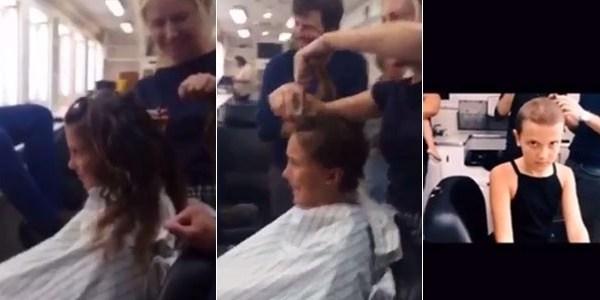 """Atriz mirim mostra vídeo raspando os cabelos para """"Stranger Things"""""""