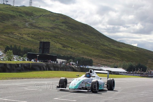Billy Monger in the final British Formula Four race during the BTCC Knockhill Weekend 2016