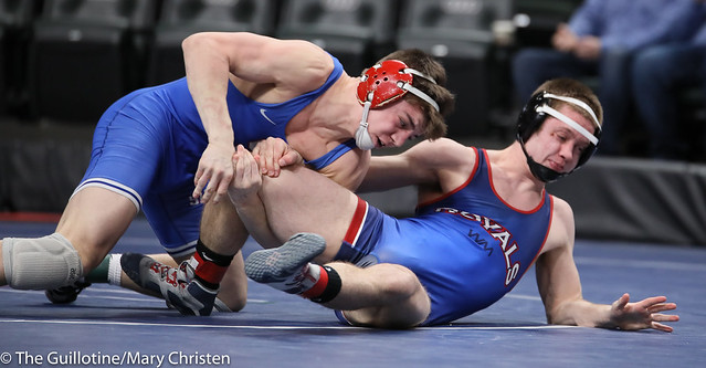 138AA Semifinal - Cael Berg (Simley) 36-3 won by fall over Carter Entinger (Watertown Mayer-Mayer Luth.) 38-4 (Fall 5:58). 190302AMC3252