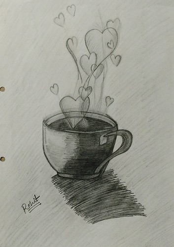Goodmorning A Cup Of Tea Coffee A Cup Of Love Pencilart Drawbyme Rg Drawings Pencildrawing