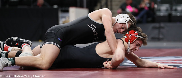 138AA 1st Place Match - Tyler Shackle (Scott West) 44-6 won by decision over Cael Berg (Simley) 36-3 (Dec 5-4) - 190302BMC4543