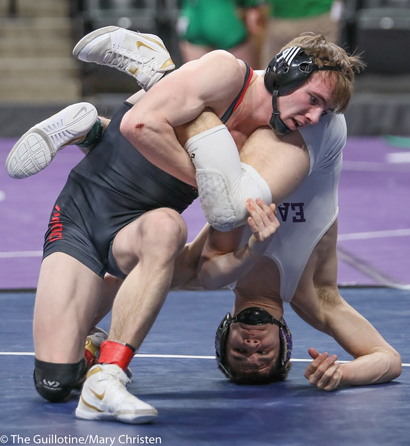 145AA 3rd Place Match - Sean Howk (New Ulm Area) 45-3 won in sudden victory - 1 over Payton Anderson (Fairmont-Martin County West) 45-9 (SV-1 4-2). 190302BMC3786