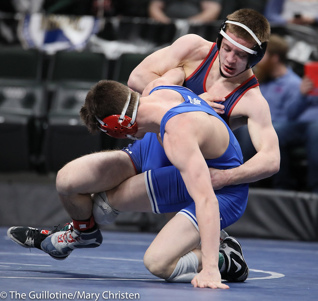138AA Semifinal - Cael Berg (Simley) 36-3 won by fall over Carter Entinger (Watertown Mayer-Mayer Luth.) 38-4 (Fall 5:58). 190302AMC3267