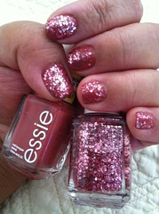 """Essie """"In Stitches"""" topped with Essie top coat """"A Cut Above"""""""