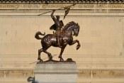 Estatua del Cid Campeador a la entrada de la Hispanic Society en Harlmen (NYC-USA)