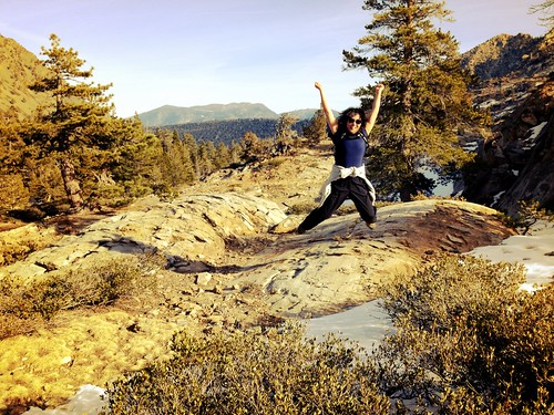Desolation Wilderness leap