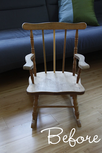 Before After Spray Painted Rocking Chair Diy