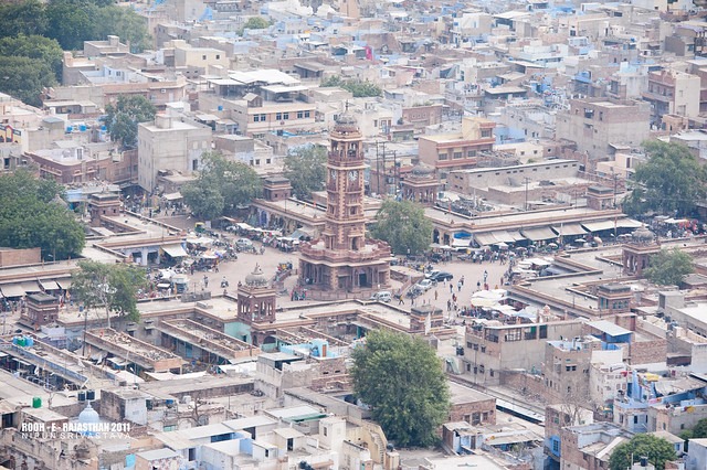 The Ghanta ghar, old Jodhpur.