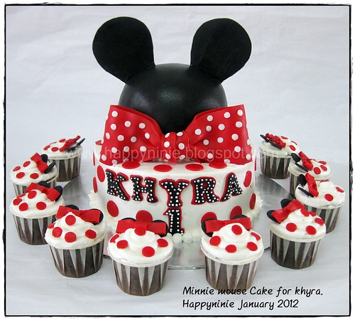 MInnie mouse cake set for Khyra