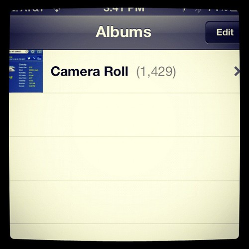 #photo #addiction I already deleted over 700 pictures.