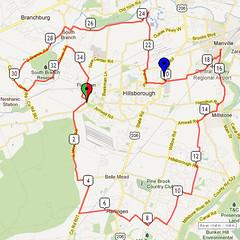 15. Bike Route Map. Somerset Valley YMCA, Hillsborough, NJ