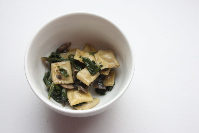 Ravioli with Mushroom and Swiss Chard
