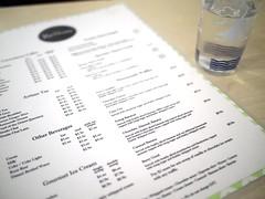Menu, ReStore Living Cafe, Tanjong Pagar Road