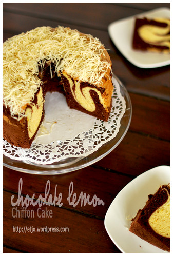 Chocolate Lemon Chiffon Cake