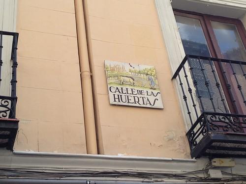 Calle de Las Huertas, Barrio de Las Letras. Madrid
