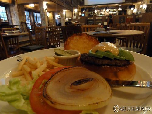 Hamburgers at zest cantina Ebisu