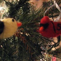 Needle Felted Cardinal Ornament - Tutorial
